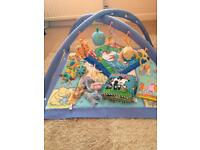 Baby bundle including Winnie the Pooh playmat
