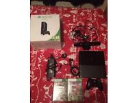 Xbox 360 black 250gb with Xbox connect