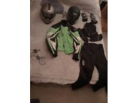 Helmets, Jackets, Trousers, Gloves, Neck Warmer, Boots all £18 or less