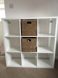 Storage cube with wicker baskets ideal for bedrooms, wardrobes and living rooms