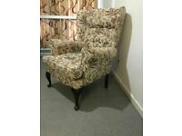 Wingback Armchair Parker Knoll Style Sofa Arm Chair Expensive New Wing High Back VGC