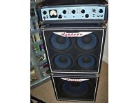 ASHDOWN ENGINEERING BASS GUITAR CABINETS/ AMP/HEAD COVERS.