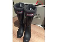 Hunter boots with matching socks