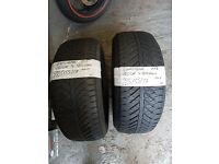 2X TYRES 225 55 17 GOODYEAR 4SEASONS