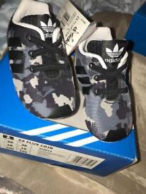 Adidas baby trainers crib shoes