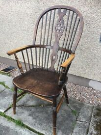 ANTIQUE STICK BACK WINDSOR CHAIR.. - CAN DELIVER LOCALLY --