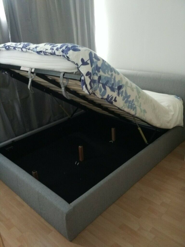 Astonishing Birlea Brooklyn Ottoman Storage Double Bed In Grey Fabric With Mattress In South East London London Gumtree Theyellowbook Wood Chair Design Ideas Theyellowbookinfo