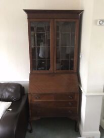 VINTAGE BUREAU / WRITING DESK VERY WELL MADE GENUINE ITEM FREE LOCAL DELIVERY 07486933766