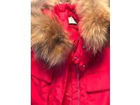 Real big fur hood coat