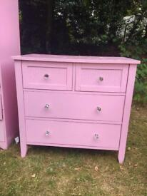 Beautiful pink bedroom furniture from Next