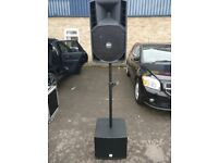 RCF ACTIVE PA SPEAKERS / SUBWOOFERS / DBX 166 (JOB LOT)