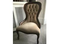 Vintage style spoon back chair