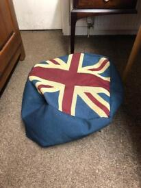 Union Jack bean bag / footstool * free furniture delivery*