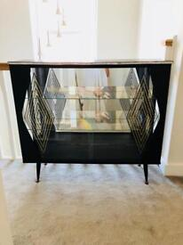 Art Deco style mirrored back glass cabinet