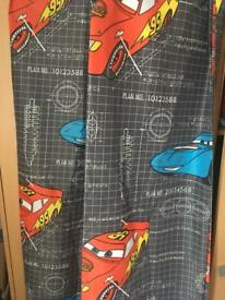 Lightning McQueen curtains