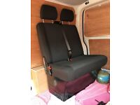 VW Transporter T5 T6 front passenger bench double seat in Simora fabric with base