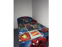 toddlers bed with mattress