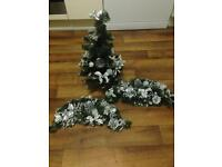 John Lewis silver Christmas tree and garlands