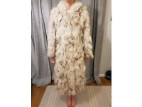 Vintage Blue Fox Real Fur Coat - Full length ladies small size 8-10