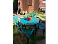 SOLD......Garden Table and 4 Chairs Free Delivery