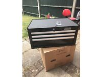 Halfords Industrial 3 Drawer middle chest Tool Box new Unused