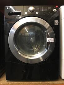 LG 8KG BLACK 1400 SPIN WASHING MACHINE