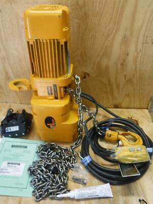 Harrington Sner010l-10 1 Ton 10 Ft Lift 115230 Volt 7 Fpm Chain Hoist