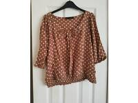 Brown spotted top from next