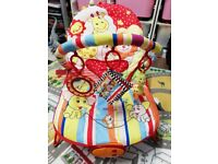 Baby Bouncy Chair with Lovely Music, 3 Levels of Vibration and Cute Toys