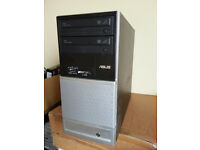 Asus V3 Gamer PC, Athlon II 245 2x 2.9Ghz, Win 10, 750GB, 4GB, Nvidia 8200 HDMI, firewire, Office
