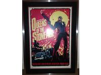Queens Of The Stone Age Limited Edition Poster Print. Professionally Framed and Mounted