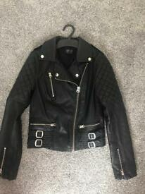 Woman's faux leather jacket size 8