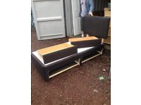 Black Single bed inc 2 drawers & headboard