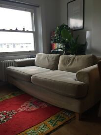 *Modern design light green sofa* in great condition