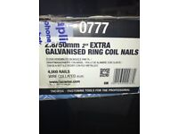 Galvanised Ring Coil Nails 2.8/50mm