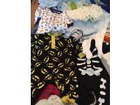 Bag of baby boys clothes 0-6