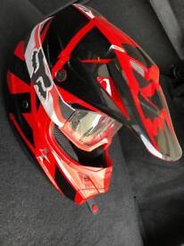 Fox V1 Helmet and Goggles