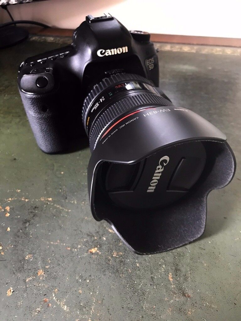 MUCH-LOVED RECENTLY SERVICED canon 5d mark iii + w/ EF 24-105mm f/4 IS USM lens