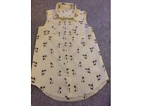 Girls river island cat print shirt blouse age 7