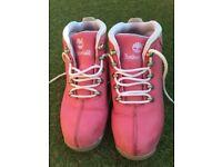 Pink timberland boots uk4 ladies/girls