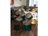 6 piece Premier Artist Birch kit (inc. cymbals and hardware)