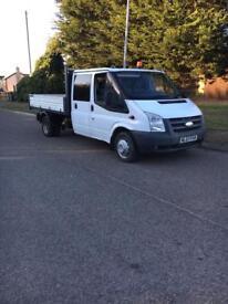 57reg transit crew cab tipper,vgc,free delivery,no vat,£4400