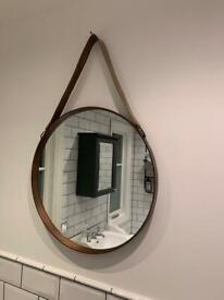 Round Hangjng Mirror John Lewis Dia. 50cm