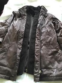 Ladies brown lightweight warm jacket size 12