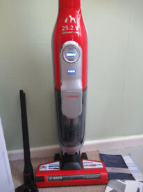 Bosch BCH6PETGB Athlet ProAnimal Upright Cordless Vacuum Cleaner - Tornado Red