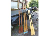 Oars good condition x 3 pair