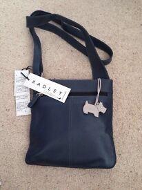 Radley Navy Leather Shoulder Bag