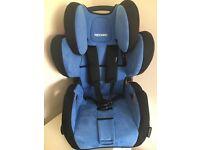 Recaro car seat in Blue