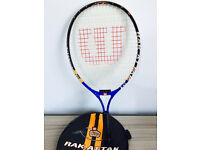 Wilson kids tennis racket, quick sale at only £10, I've got other quality rackets available too