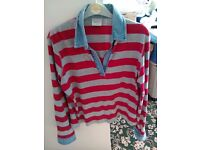 NEXT Red and Grey striped shirt, Size 16